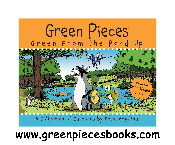 Green Pieces Mouse Pad